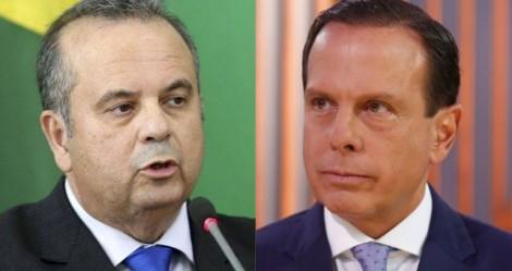 """Depois do """"chilique"""", Doria recebe uma aula de civismo e patriotismo do Ministro Rogério Marinho (veja o vídeo)"""