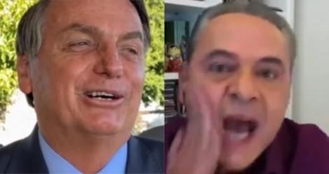 "Bolsonaro debocha de ""surto"" do narrador da Globo: ""Só faltou baixar as calças e mostrar o bumbum branquelo"" (veja o vídeo)"