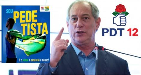 PDT adota o verde e amarelo para disfarçar o socialismo vermelho de sua bandeira
