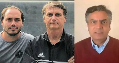 """Crusoé descobre que Carlos Bolsonaro visita o pai duas vezes por mês e acredita que isso é """"gabinete paralelo"""""""