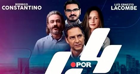 """4 por 4: Novo programa com Fiuza, Constantino, Lacombe e Ana Paula Henkel chega com o """"pé na porta"""" (veja o vídeo)"""