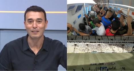 A deprimente hipocrisia do apresentador da SporTV sobre a liberação de público na final da Copa América