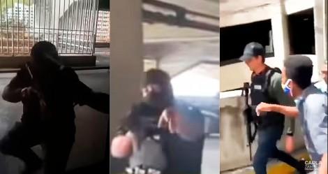 Imagens impressionantes: Agentes de Maduro tentam capturar Guaidó à força, povo se revolta e os expulsa (veja o vídeo)