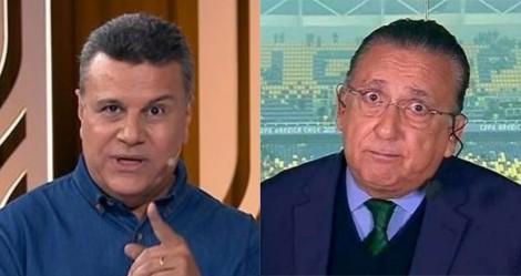 Ao vivo, Galvão tenta alfinetar SBT e é ironizado por Téo José