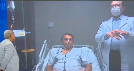 Internado em São Paulo, Bolsonaro concede entrevista a Sikera Jr. e médico detalha saúde do presidente (veja o vídeo)