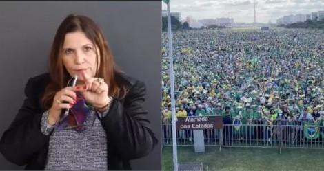 Bia Kicis convoca para o ato de 1º de agosto, pela aprovação do voto impresso auditável (veja o vídeo)