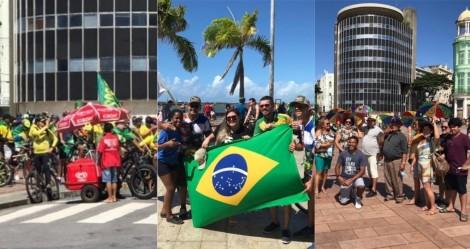 De carro, de moto e de bicicleta: Recife inova e cria passeio ciclístico em apoio a Bolsonaro (veja o vídeo)