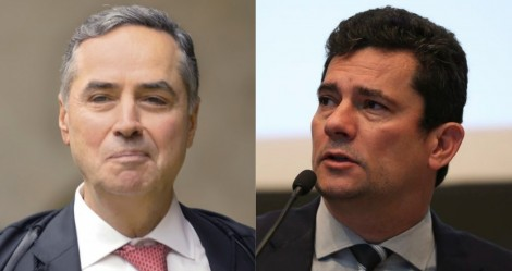 """Depois de Bolsonaro dizer duras verdades, Moro """"estranhamente"""" enaltece Barroso (veja o vídeo)"""