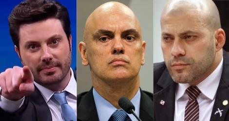 Moraes arquiva pedido de prisão de Gentili, mas Daniel Silveira continua preso