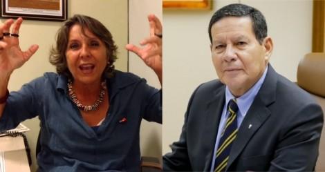 """General Mourão """"cala"""", de forma desmoralizante, deputada petista que tentou """"mitar"""" nas redes"""