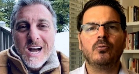 Huck reaparece, ataca Bolsonaro, critica desfile militar e é calado por Constantino