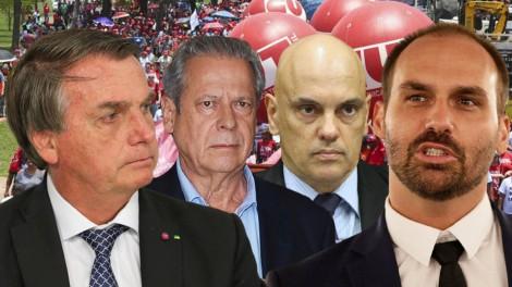 AO VIVO: Dirceu convoca a militância para ir às ruas no dia 7 / Bolsonaro: 'A corda arrebentou' (veja o vídeo)