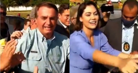 Bolsonaro e Michele dão show de humildade em Pernambuco... nos braços do povo (veja o vídeo)