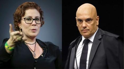 """Zambelli questiona Moraes: Além de vítima, juiz e acusador, agora é """"fiscal de mesa de bar""""? (veja o vídeo)"""