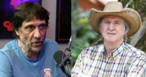 Comentarista de afiliada da Globo lamenta o fato de Sérgio Reis não ter morrido