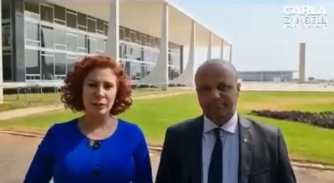Zambelli e Major Vitor Hugo vão até o STF e protocolam HC em favor de Zé Trovão (veja o vídeo)