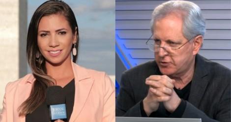 Ao vivo, Augusto Nunes rasga elogios a repórter do JCO por ter enquadrado Renan e Randolfe (veja o vídeo)