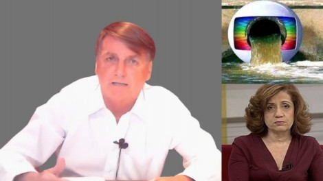 Bolsonaro impõe condição desconcertante para falar com a Globo e relembra 'psicografia' de Miriam Leitão (veja o vídeo)