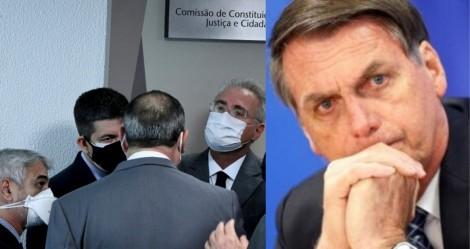 Bolsonaro lamenta 'baixaria' de Renan e diz que CPI está completamente desmoralizada (veja o vídeo)