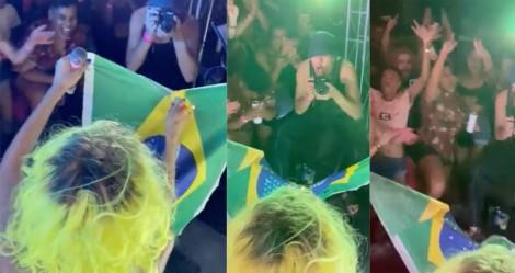 Grupo LGBT queima bandeira do Brasil e xinga Bolsonaro em repugnante ato relativizado pelo grupo Globo (veja o vídeo)