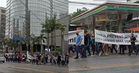 Manifestantes e funcionários fazem ato em apoio à Prevent Senior e contra a perseguição imposta pela CPI (veja vídeo)