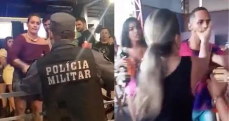Mulher pira, ataca policiais e arruma confusão de bar em bar, em Cuiabá (veja o vídeo)