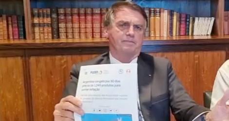 """Bolsonaro aponta rápida """"venezuelização"""" da Argentina, com explosão de inflação e intervenção do Estado na economia (veja o vídeo)"""
