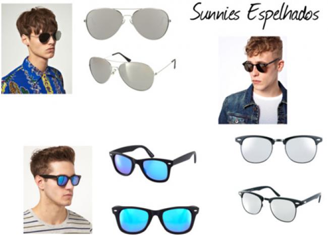 6c0ab742d549b Há vários estilos de óculos masculinos para usar e compor um look. Eles  podem ser espelhados