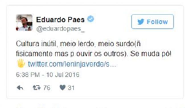 A tuitada de Paes
