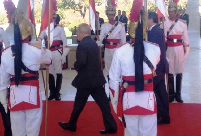 Momento da chegada de Lula ao STF