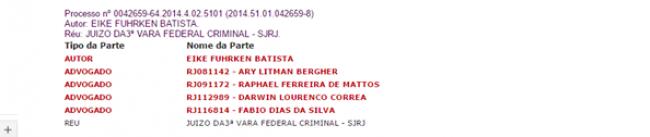 Nenhum dos advogados pertence a banca de Bermudes