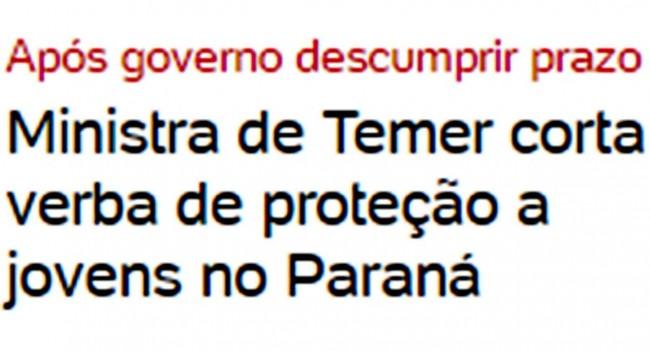 Manchete do UOL (Folha de São Paulo)