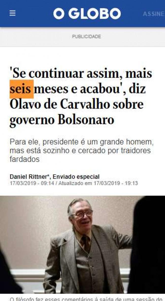 Print do site O Globo