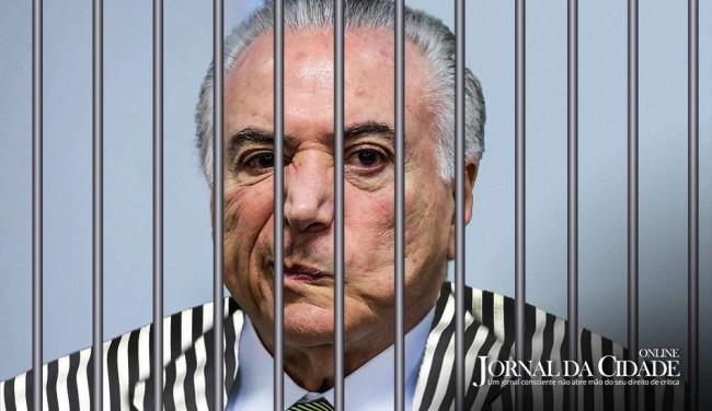 Resultado de imagem para jornal da cidade - prisão de michel temer