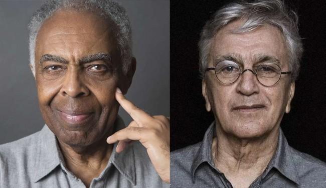 Gilberto Gil  — Foto: Divulgação / Gerard Giaume   Caetano Veloso — Foto: Divulgação / Fernando Young.