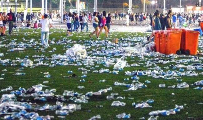Lixo no Rock in Rio 2011