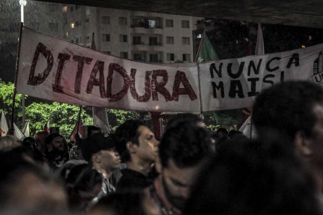 Ato em São Paulo | Foto: Elineudo Meira | Maiakovski Pinheiro - CUCA da UNE / UBES