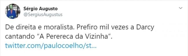 Tweet de Sérgio Augusto