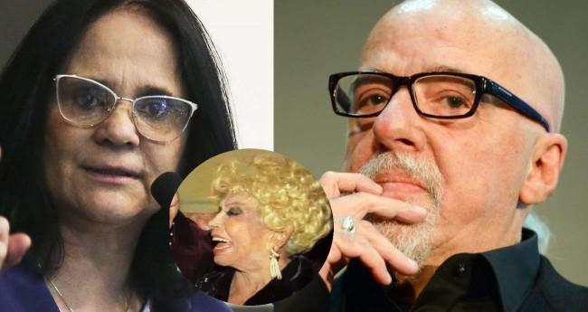 Damares, Dercy Gonçalves e Paulo Coelho