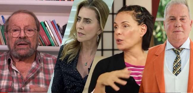 Na foto: Carlos Vereza, Maitê Proença, Carolina Ferraz, Luiz Fernando Guimarães