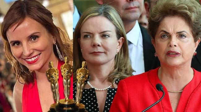 Petra Costa, Gleisi Hoffmann e Dilma Rousseff