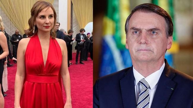 Petra Costa e Jair Bolsonaro