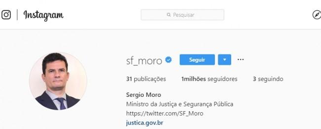 Instagram de Sérgio Moro