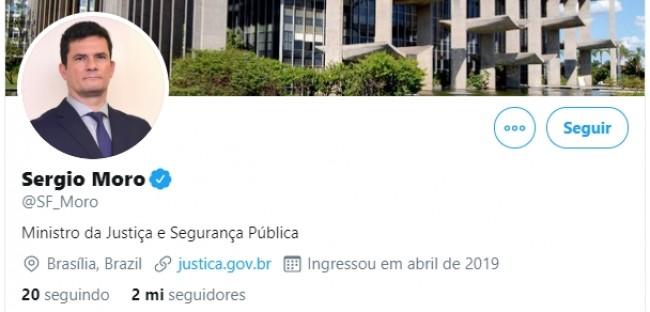 Twitter de Sérgio Moro