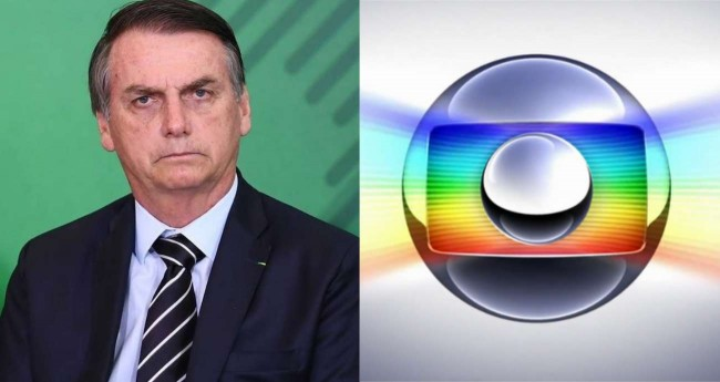 Fotomontagem: Jair Bolsonaro e logo da Globo