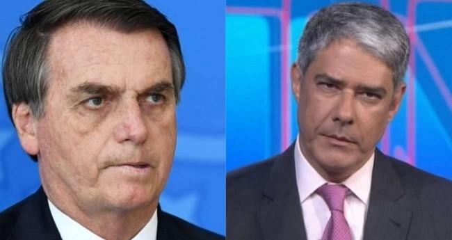 Fotomontagem: Jair Bolsonaro e William Bonner