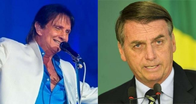 Fotomontagem: Roberto Carlos e Jair Bolsonaro