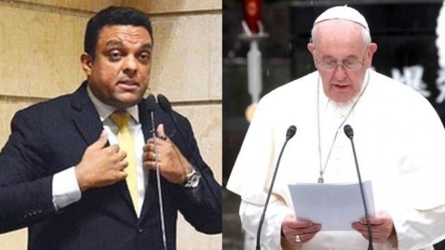 Fotomontagem: Deputado Otoni de Paula e Papa Francisco