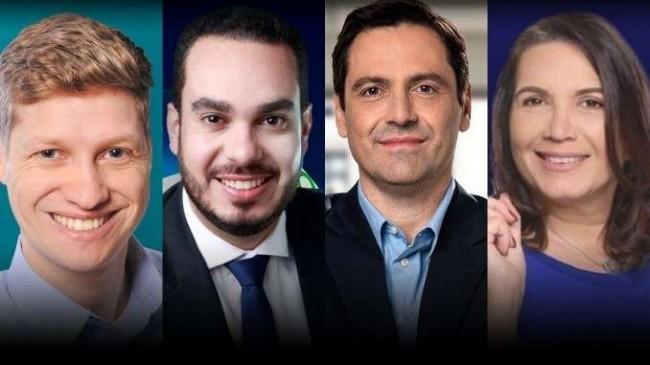 Marcel van Hatten, Paulo Martins, Luiz Phelippe e Bia Kicis