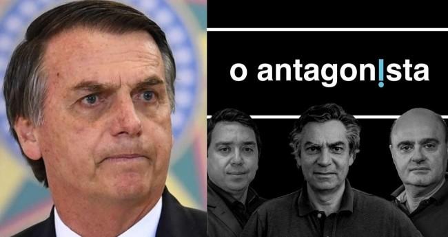 Fotomontagem: Jair Bolsonaro e O Antagonista